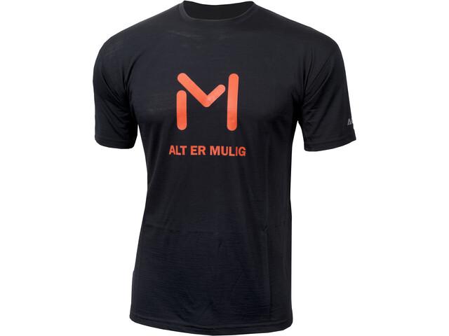 Aclima Lars Monsen Anárjohka T-shirt Herre jet black